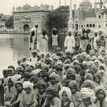 A 100 year old picture at Sri Darbar Sahib Amritsar.